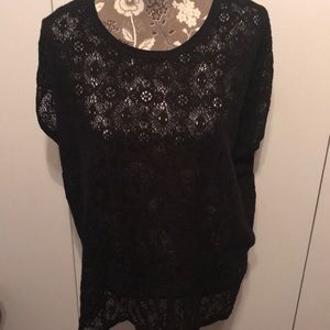 Old Navy Black Lace Blouse XXL